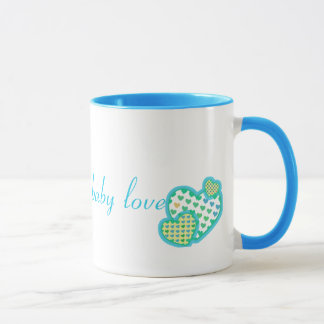 baby love blue green yellow mug