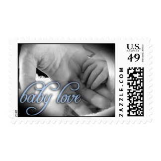 """""""Baby Love"""" (blue) postage stamp"""