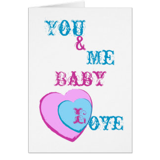 Baby Love-Customize Card