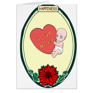 Baby love, Happiness Card