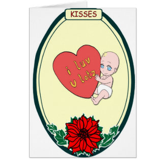Baby love, Kisses Card