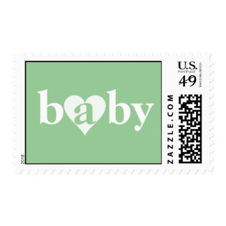 Baby Love Postage in Green