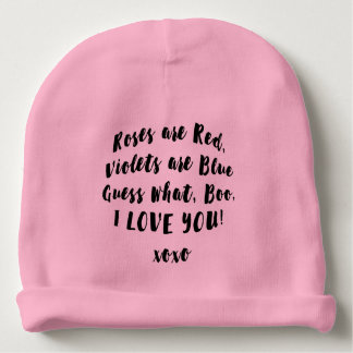 Baby Love you Boo hat