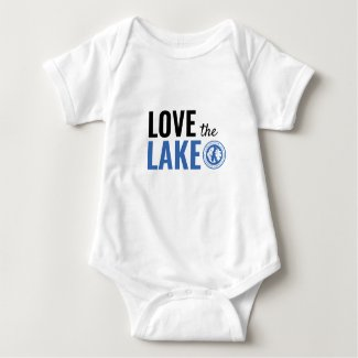 Baby loves the lake too baby bodysuit