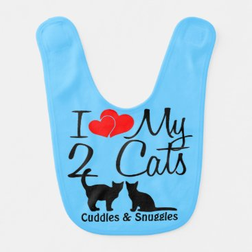 Toddler & Baby themed Baby Loves TWO Cats Baby Bib