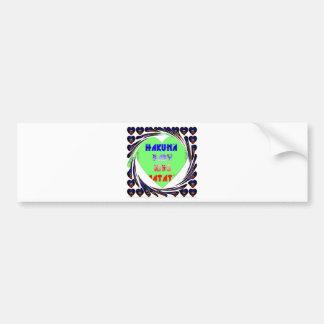 Baby Luminous Hearts Hakuna Matata Baby Kid Design Bumper Sticker