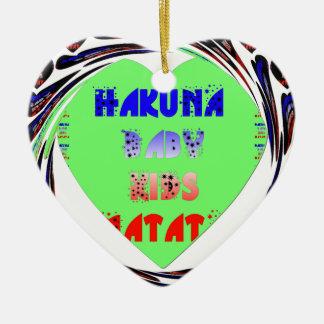 Baby Luminous Hearts Hakuna Matata Baby Kid Design Ceramic Ornament