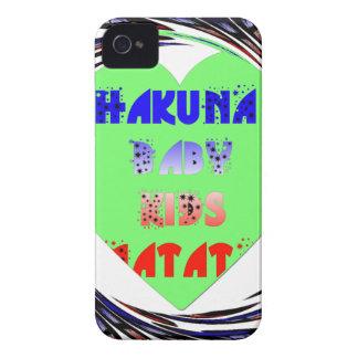 Baby Luminous Hearts Hakuna Matata Baby Kid Design iPhone 4 Covers