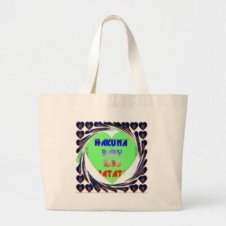 Baby Luminous Hearts Hakuna Matata Baby Kid Design Large Tote Bag