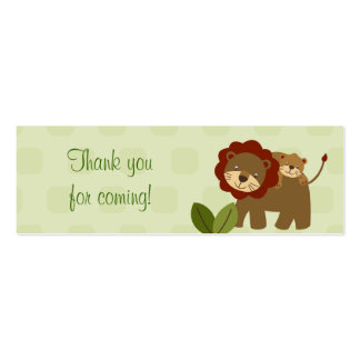 Baby Luv Jungle Animal Baby Shower Favor Gift Tags Double-Sided Mini Business Cards (Pack Of 20)