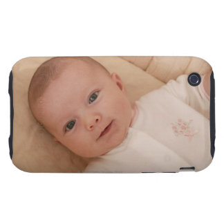 Baby lying down iPhone 3 tough cases