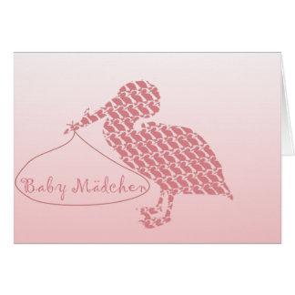 Baby Mädchen Card