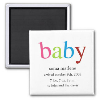 Baby Magnet Announcement