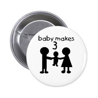 Baby Makes 3 Buttons