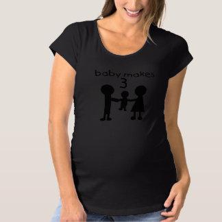 Baby Makes 3 T Shirts