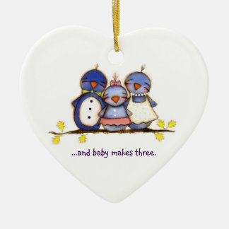 Baby Makes Three - Customizable Ornament
