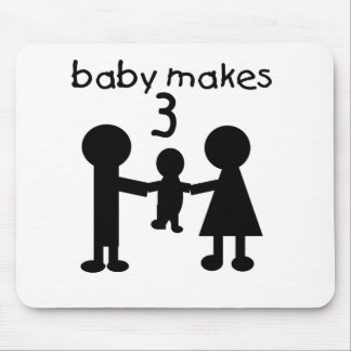 Baby Makes Three Mouse Pad