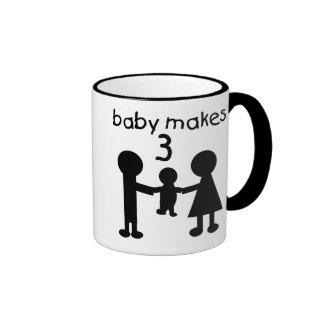 Baby Makes Three Coffee Mug
