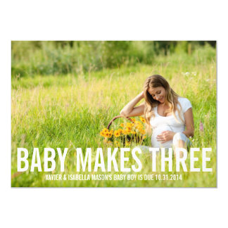 Baby Makes Three | Pregnancy Announcement