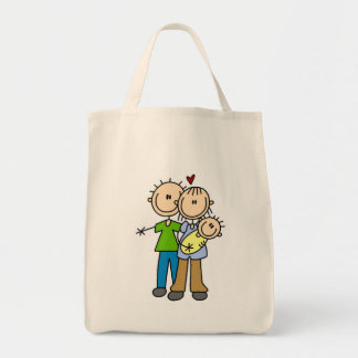 Baby Makes Three T-shirts and Gifts Canvas Bag