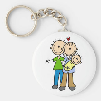 Baby Makes Three T-shirts and Gifts Keychain