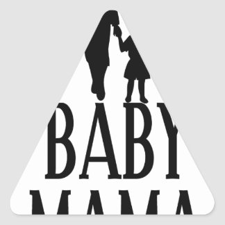 Baby mama(1) triangle sticker