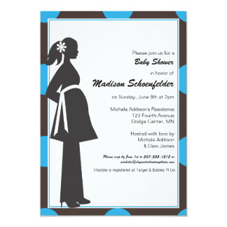 Baby Mama Shower Invitations (Blue)