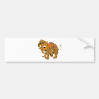 Baby Mammoth Bumper Sticker