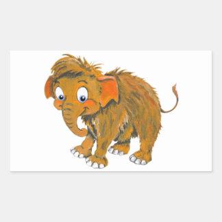 Baby Mammoth Rectangular Sticker