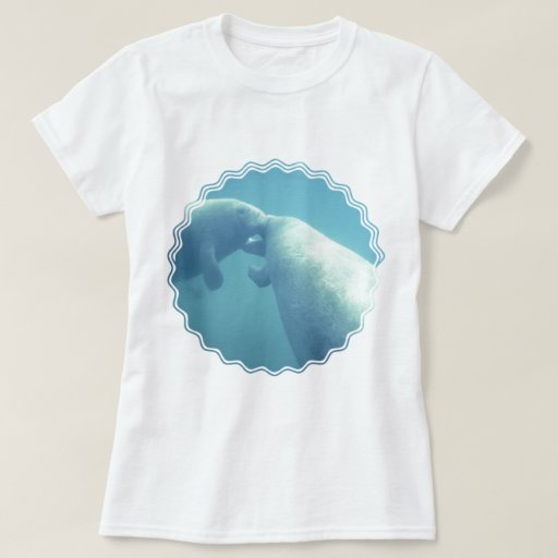 Baby Manatees  Ladies Fitted T-Shirt