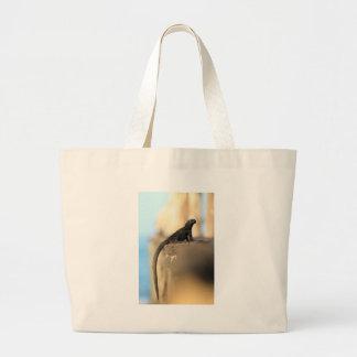 Baby marine iguana Galapagos Islands Canvas Bags