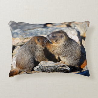 Baby Marmots Decorative Pillow