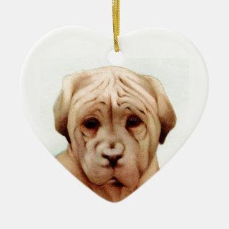 Baby Mastiff - SUPER CUTE ! Ceramic Ornament