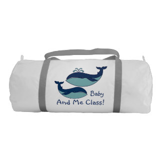 """""""Baby & Me Class"""" Whales Gym Bag"""
