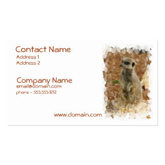 Baby Meerkat Business Card
