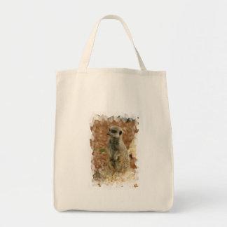 Baby Meerkat Grocery Tote Bag
