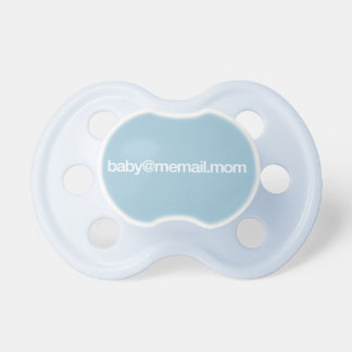 """baby@memail.mom"" Baby Pacifier"