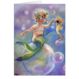 Baby Mermaid at Play Card