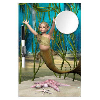 Baby Mermaid Dry Erase Board With Mirror