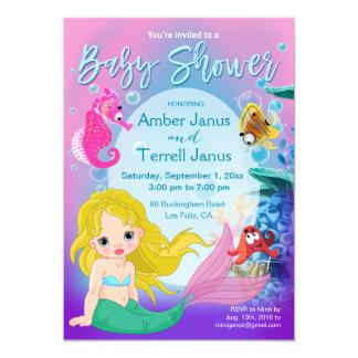 Baby Mermaid Underwater Fantasy Baby Shower Card