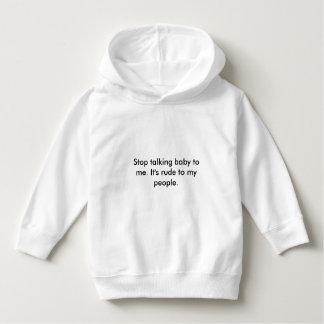 baby message hoodie
