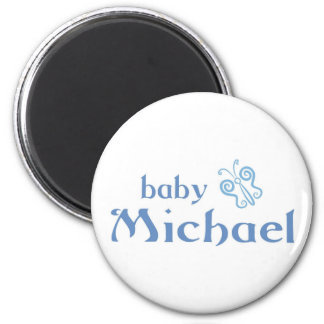 Baby Michael 2 Inch Round Magnet