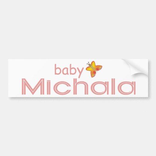 Baby Michala Car Bumper Sticker