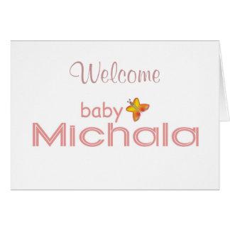 Baby Michala Card