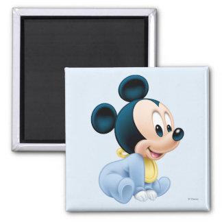 Baby Mickey | Blue Pajamas 2 Inch Square Magnet