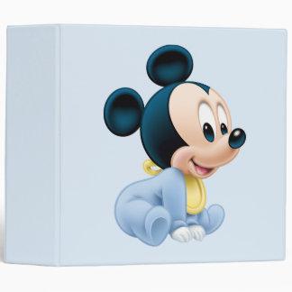 Baby Mickey | Blue Pajamas 3 Ring Binder