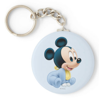 Baby Mickey | Blue Pajamas Keychain