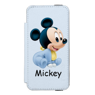 Baby Mickey | Blue Pajamas Wallet Case For iPhone SE/5/5s