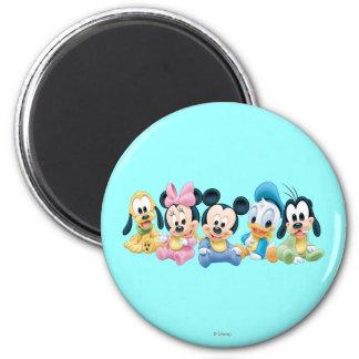 Baby Mickey & Friends 2 Inch Round Magnet