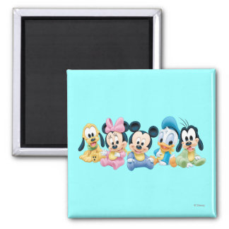 Baby Mickey & Friends 2 Inch Square Magnet